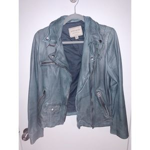 LUCKY BRAND | Teal Leather Jacket